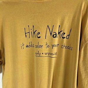 Hike Naked Cody Wyoming Mens XL Mustard T-Shirt